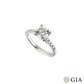 Round Brilliant Cut Diamond Ring in Platinum 1.70ct G/VS1